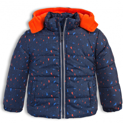 Chlapecká zimní bunda LEMON BERET GEOMETRIC tmavě modrá