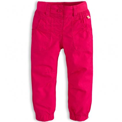 Dívčí plátěné kalhoty  PEBBLESTONE ROSE růžové