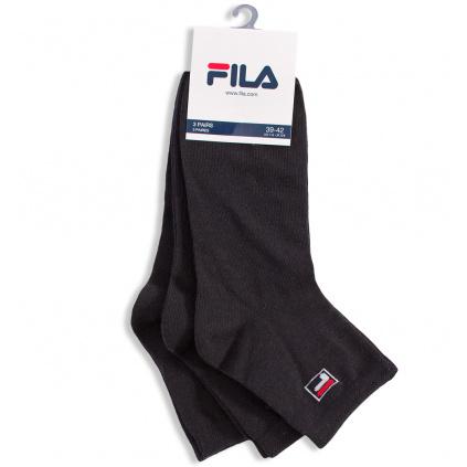 Ponožky 3 páry FILA černé