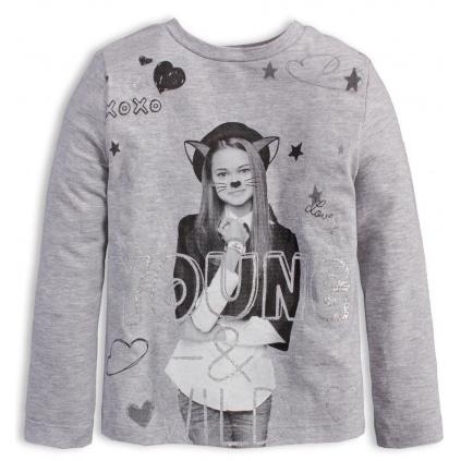Dívčí tričko KNOT SO BAD YOUNG šedé