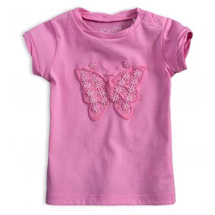 Dívčí tričko KNOT SO BAD MOTÝL růžové