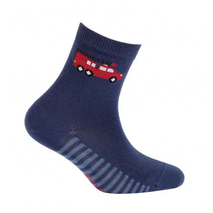 Chlapecké vzorované ponožky GATTA HASIČI tmavě modré