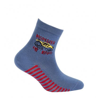 Chlapecké ponožky s obrázkem GATTA OFF ROAD modré jeans