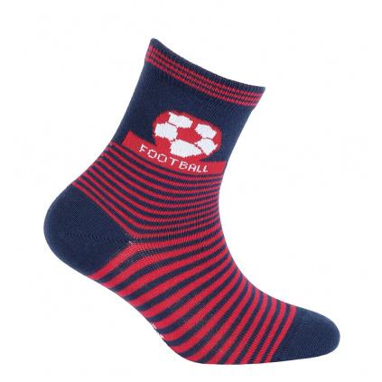 Chlapecké vzorované ponožky WOLA FOTBALOVÝ MÍČ tmavě modré