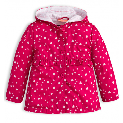 Dívčí jarní bunda KNOT SO BAD SRDÍČKA růžová