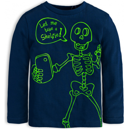 Chlapecké tričko KNOT SO BAD SKELFIE tmavě modré