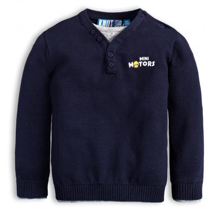 Chlapecký svetr KNOT SO BAD MINI MOTORS modrý