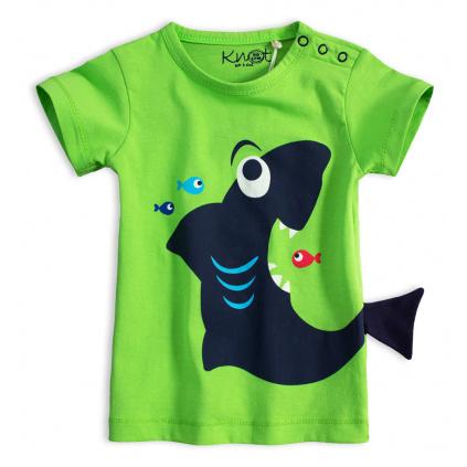 Dětské tričko KNOT SO BAD ŽRALOK zelené