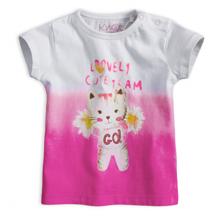 Dívčí tričko KNOT SO BAD CUTE TEAM růžové