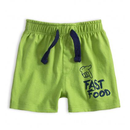 Kojenecké bavlněné šortky FAST FOOD zelené