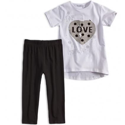 Dívčí tričko a leginy Mix´nMATCH LOVE bílá