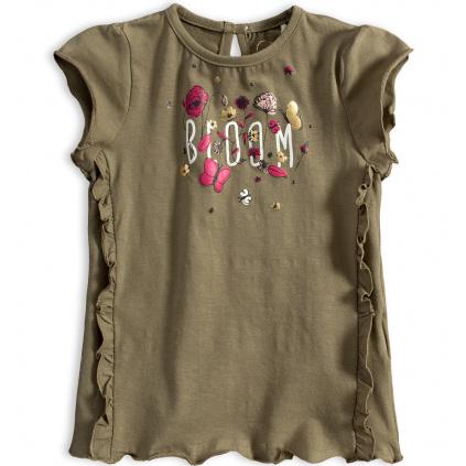 Dívčí tričko KNOT SO BAD BLOOM khaki