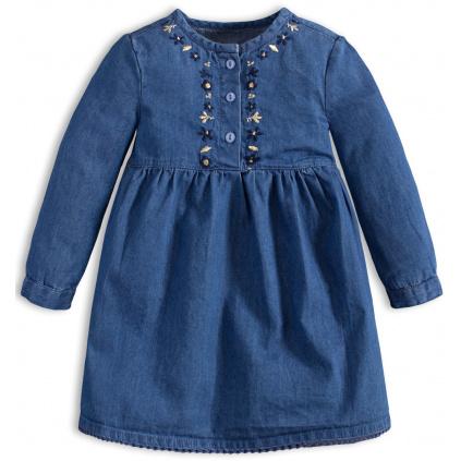 Kojenecké šaty Knot So Bad DENIM modré