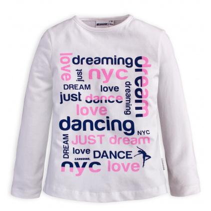 Dívčí tričko Canguro DREAM bílé