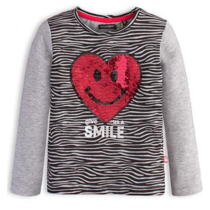 Dívčí tričko LEMON BERET SRDCE šedé