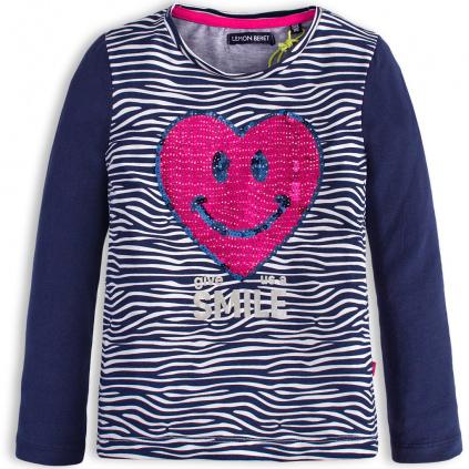 Dívčí tričko LEMON BERET SRDCE modré