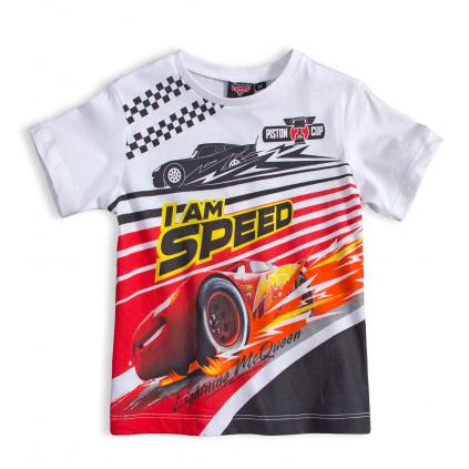 Chlapecké tričko DISNEY CARS AUTA SPEED bílé