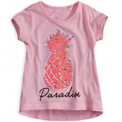 Dívčí tričko KNOT SO BAD ANANAS růžové