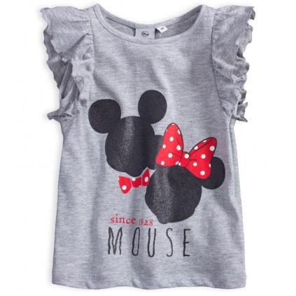 Dívčí tričko DISNEY MINNIE MICKEY šedé
