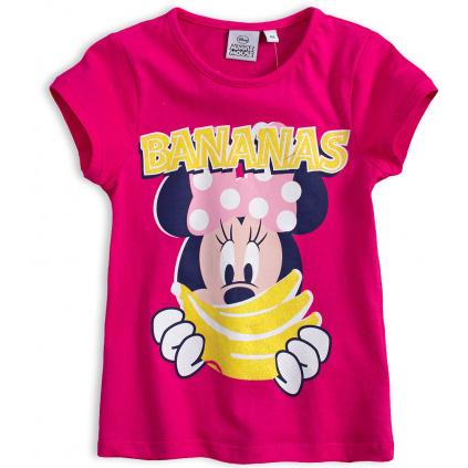 Dívčí tričko DISNEY MINNIE BANANAS tmavě růžové