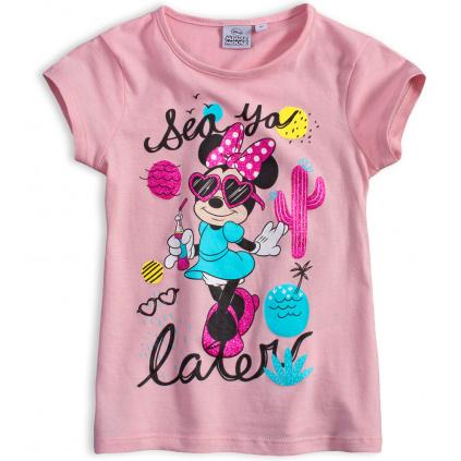 Dívčí tričko DISNEY MINNIE SEA světle růžové