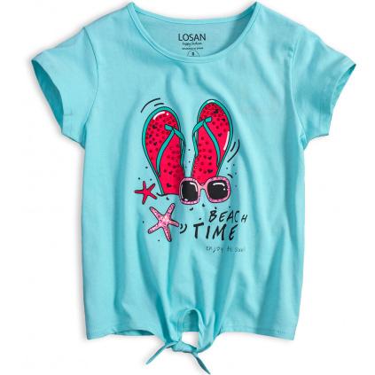 Dívčí tričko LOSAN BEACH TIME tyrkysové