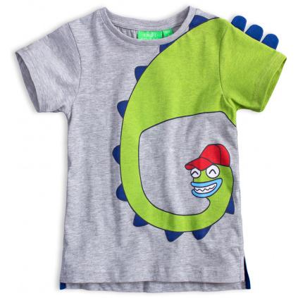 Chlapecké tričko KNOT SO BAD HAPPY DINO šedé