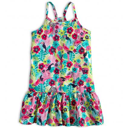 Dívčí letní šaty LOSAN KVĚTY potisk