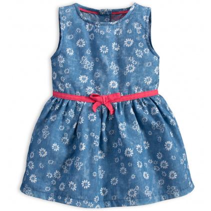 Kojenecké šaty KNOT SO BAD FLOWERS světle modré