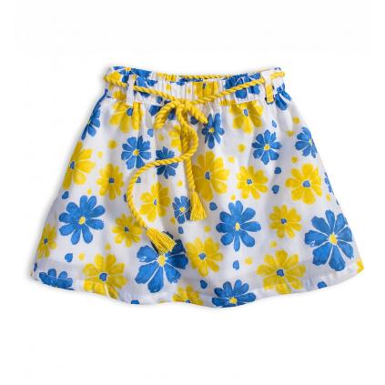 Dívčí sukně KNOT SO BAD FLOWER STYLE žlutý potisk
