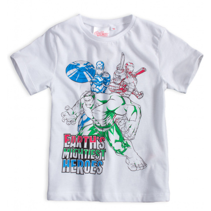 Chlapecké tričko AVENGERS HERO bílé