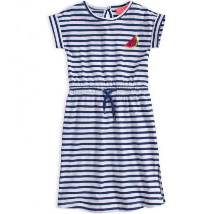 Dívčí úpletové šaty KNOT SO BAD SORBET proužky