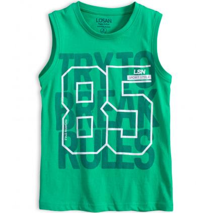 Chlapecké tričko bez rukávů LOSAN SPORT STYLE zelené