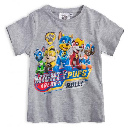 Chlapecké tričko PAW PATROL MIGHTY PUPS šedé