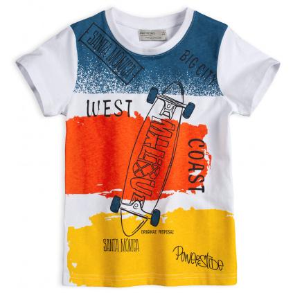Chlapecké tričko GLO STORY SKATE žlutý pruh
