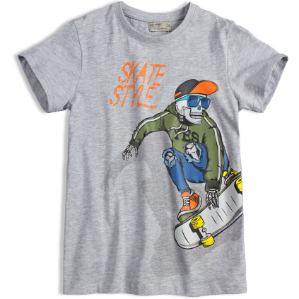 Chlapecké tričko GLO STORY SKATE šedé
