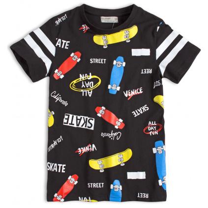 Chlapecké tričko GLO STORY SKATEBOARDY černé