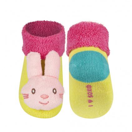 Kojenecké ponožky s chrastítkem SOXO ZAJÍČEK