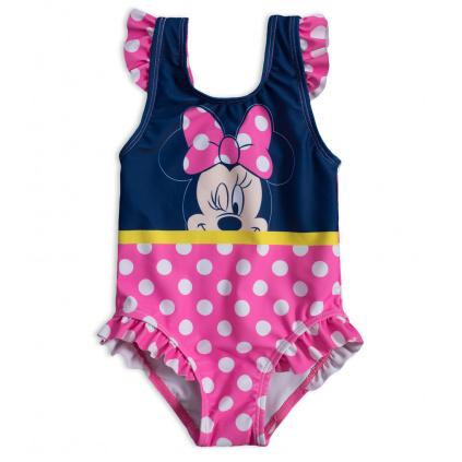 Dívčí plavky vcelku DISNEY MINNIE DOTS růžové
