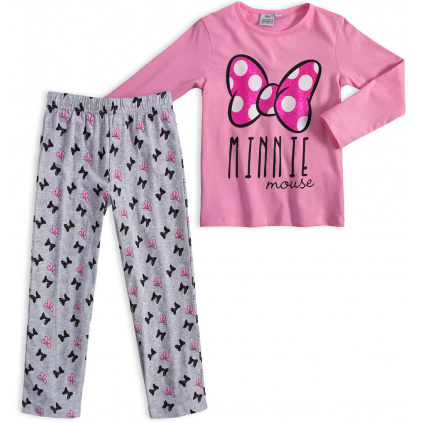 Dívčí pyžamo DISNEY MINNIE BOW světle růžové