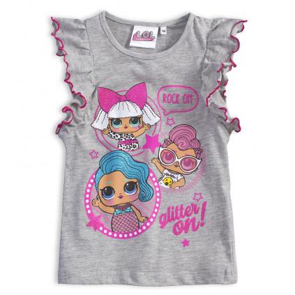 Dívčí tričko LOL SURPRISE GLITTER šedé