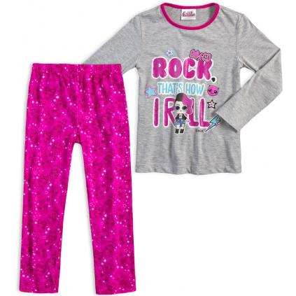 Dívčí pyžamo LOL SURPRISE ROCK šedé