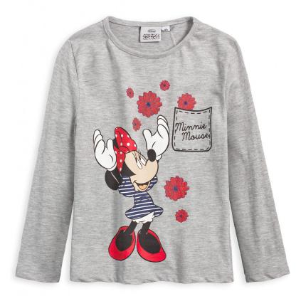 Dívčí tričko DISNEY MINNIE KYTIČKY šedé