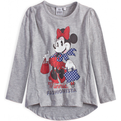 Dívčí tričko DISNEY MINNIE FASHIONISTA šedé