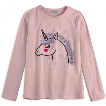 divci tricko glo story unicorn ruzove