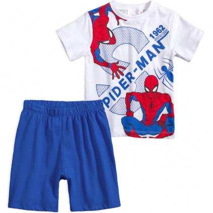 chlapecke pyzamo spiderman modre