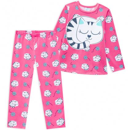 Dívčí pyžamo KYLY KOČIČKY růžové