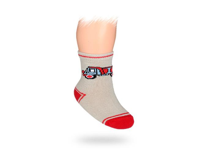 Kojenecké ponožky vzor AUTO NÁKLAĎÁK
