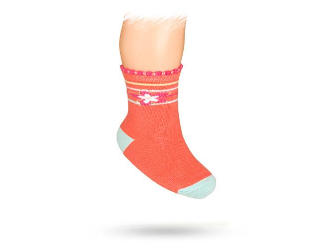 Kojenecké ponožky se vzorem KYTIČKA