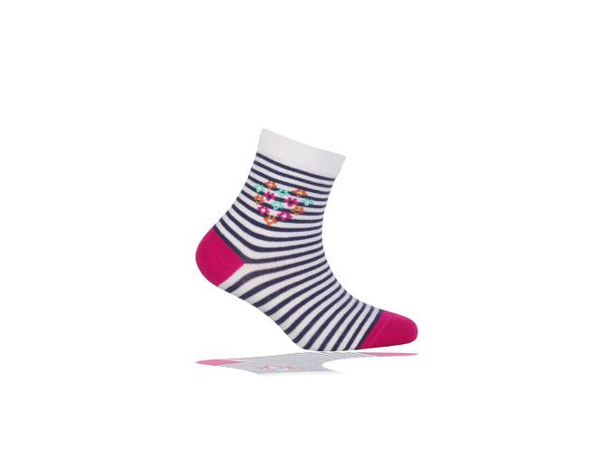 Dětské ponožky WOLA, vzor PROUŽKY WOLA PROUŽKY